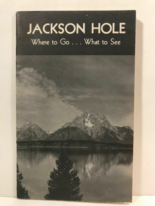 1942 Jackson Hole Wyoming V-V Dude Ranch Travel Guide Booklet with Rodeo Terms