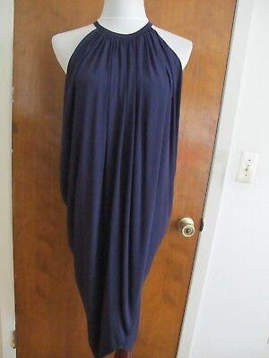 - Armani Exchange Women's Draped Bubble Blue Lined Dress Size Xsmall NWT