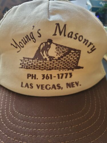 Vintage Hat Las Vegas Young Masonry made in USA