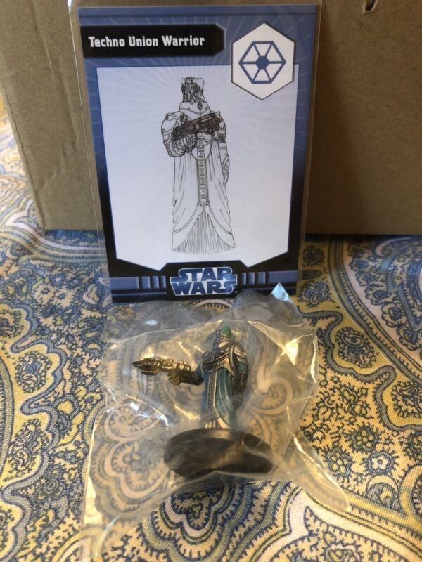 Star Wars Miniatures The Clone Wars Techno Union Warrior #33/40 NEW SWM Minis