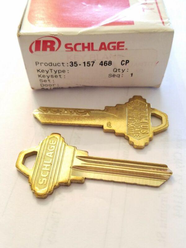 Lot of 2 Keys Schlage Primus Level 3U Key Blank- 35-157 468 CP