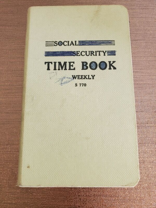 Vintage 1960s Social Security Time Book - #S 770 - Weekly Wage Records Used