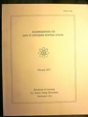 Recommendations For Shape Of Earthquake Response Spectra  1973  Us Atomic Energy