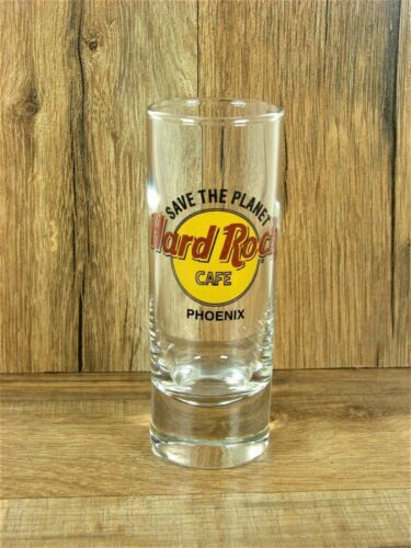 HARD ROCK CAFE PHOENIX Save The Planet 4 in. Tall Double Shot Glass Arizona