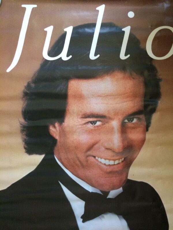 Rare Julio Iglesias Promotional Poster Spain Abrazame Enrique Iglesias 1984 Huge