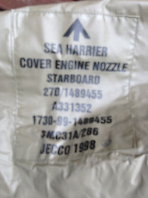 Ex Royal Navy Harrier FRS2 starboard nozzles cover.