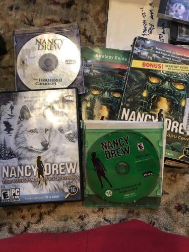 Computer Games - 3 Nancy Drew Computer Games Windows XP