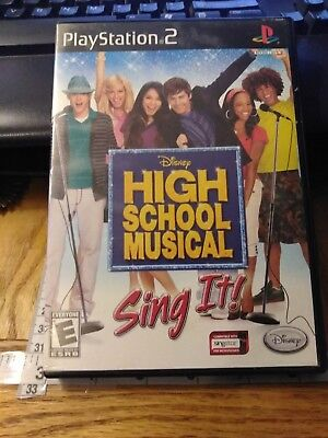 Disney High School Musical-Play Station 2 Game-PS2,Tested! Works! Complete! (Play School Games)