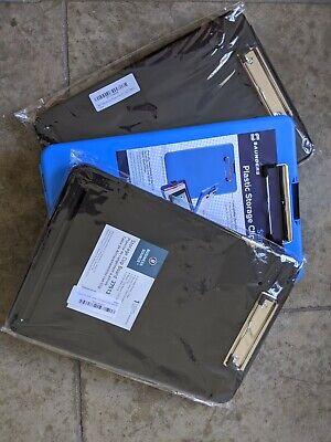 1 Saunders Slimmate Plastic Storage Clipboard 1 Business Source Clipboard