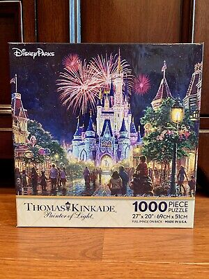 NEW Main Street USA Walt Disney World Resort Castle Puzzle by Thomas Kinkade