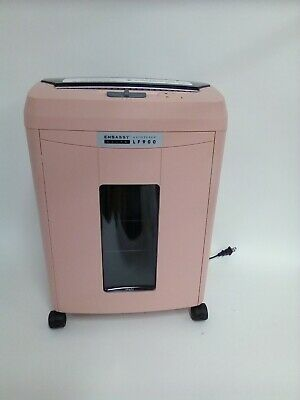 Embassy Elite 9-sheet Microcut Paper Shredder With 90-sheet Auto Feed Rose Pink