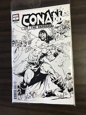 Conan The Barbarian #1 (2019) Marvel Asrar Partei Sketch Variante B&w 1 Pro (Wonder Woman Partei)