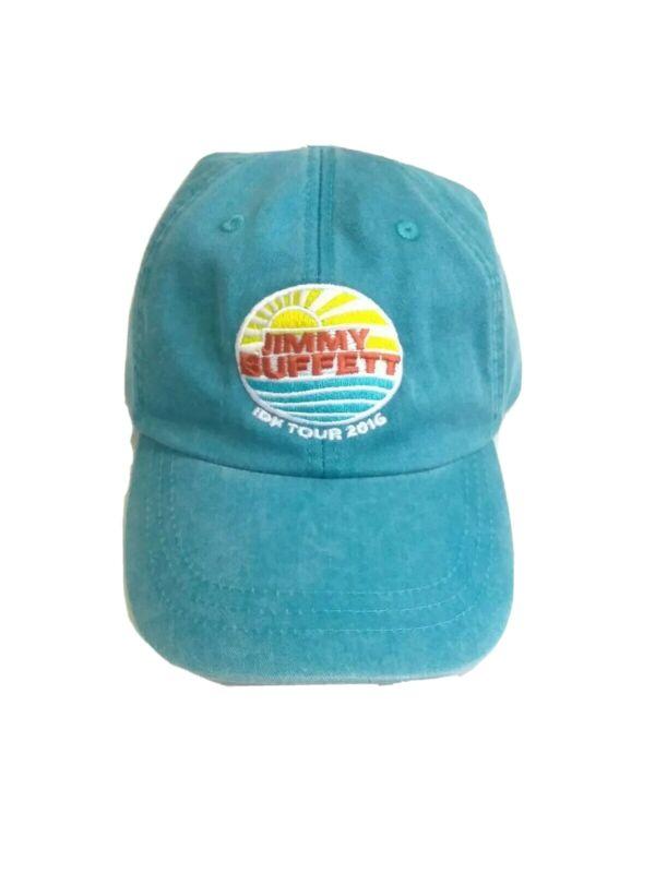 NEW Jimmy BuffettIDK Tour 2016-17 Hat Cap Blue Sun Waves Parrot Strapback Tour