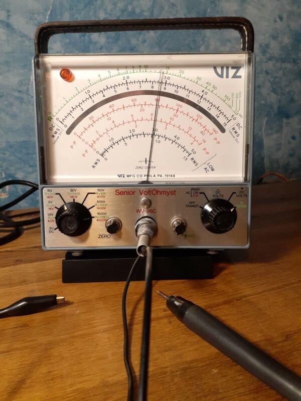 Vintage RCA WV-98C Senior Volt Ohmyst Multimeter - WORKING