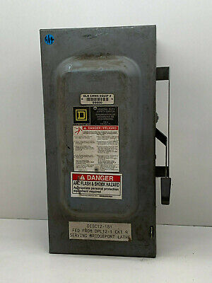 Square D D323n 100-amp 240-volt 3-pole Fusible Indoor General Duty Safety Switch