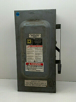 Square D H363 100A 600VAC Saftey Fusible Disconnect 1 Year Warranty