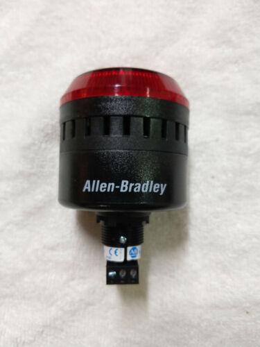 Used Allen Bradley 855PC-B24LE422 LED Panel Mount Sounder RED Stack light horn