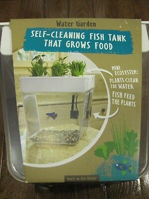Back to the Roots Aquafarm Aquaponic Indoor Garden Self Cleaning Fish Tank - New