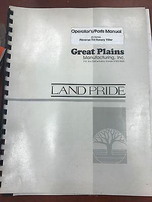 Landpride Owners Manual 25 Series Reverse Till Rotary Tiller