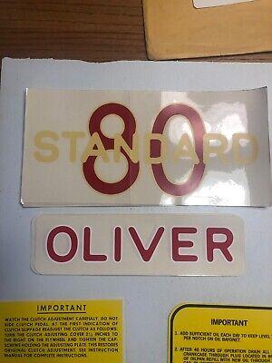 Oliver Model 80 Decals