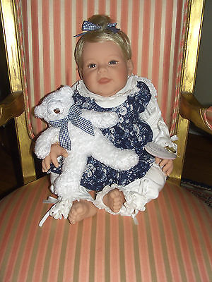 """""""Teddy Bear Blues"""" Doll By Lee Middleton Artist Studio Collection"""