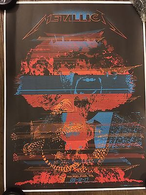 METALLICA WORLDWIRED TOUR POSTER VIP ONLY PHILADELPHIA 5/12/2017 DECABET PHILLY