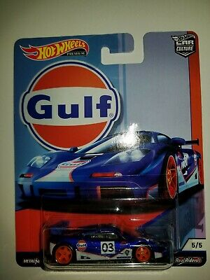 Hot Wheels 2019 Car Culture Gulf Oil Racing McLaren F1 GTR 1/64 Diecast Car New!