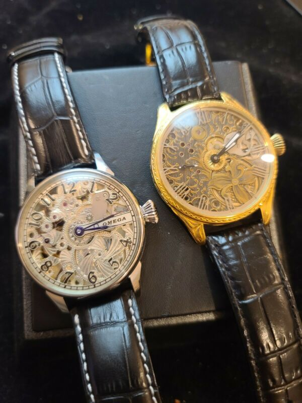 Beautifully engraved vintage watch lot - Rolex and Omega
