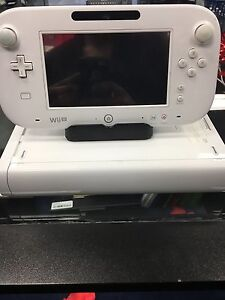 White Nintendo Wii U with Gamepad