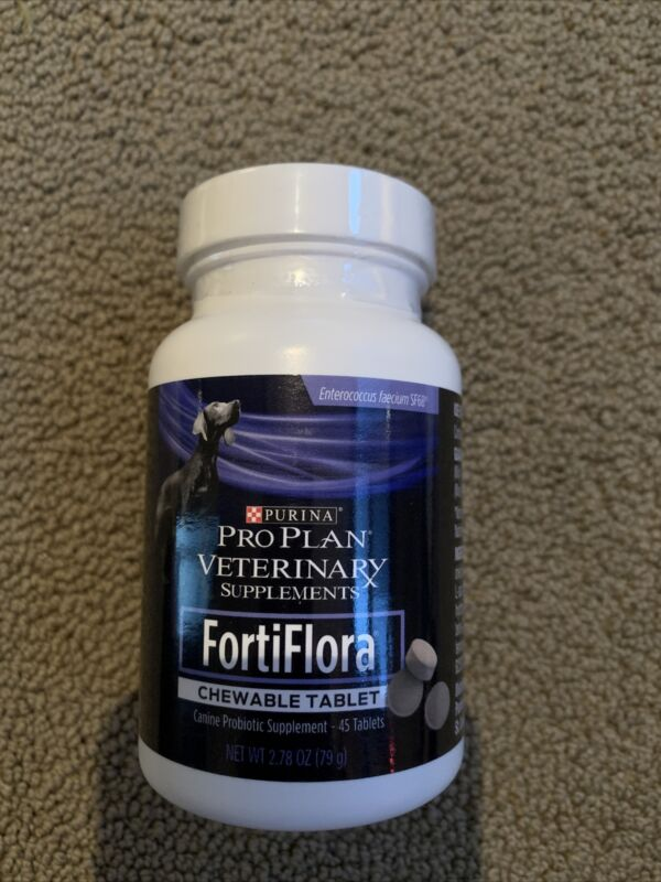 Purina Pro Plan Veterinary Diets FortiFlora Chewable Dog Supplement Exp Sep 2021