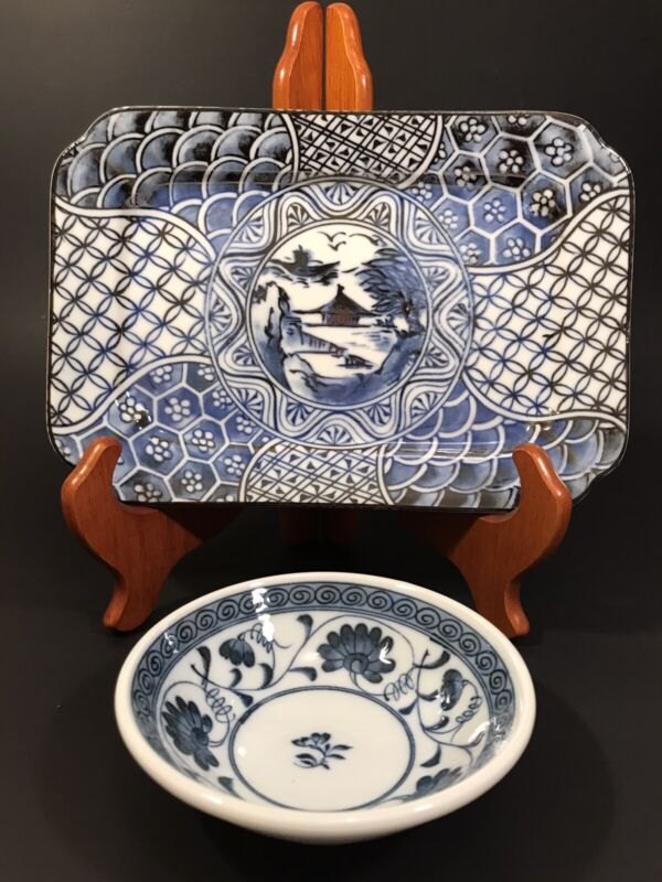 Lot Of Two Takahashi San Francisco Blue And White Dishes