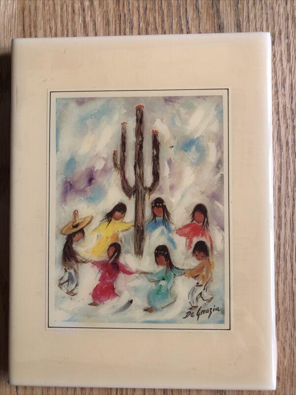 Ted DeGrazia Ceramic Art Tile Papago Saguaro Dance  Easel Back Or Flat Hang
