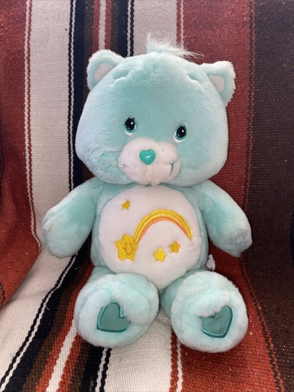 "Care Bears Sing Along Friends Wish Bear Singing Plush 12"" Toy 2003 Works!"