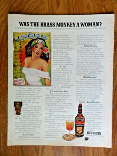 1972 Heublein Cocktails Ad  Was The Brass Monkey a Woman? Drink Defeated Japan