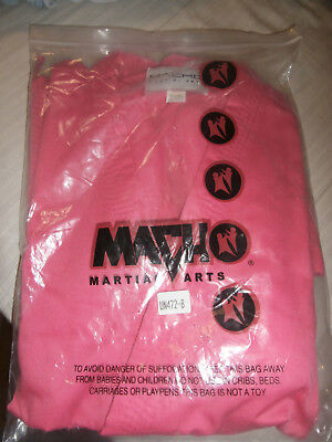 PINK NEW IN PACKAGE MACHO MARTIAL ARTS SIZE 8 /  220 GIS UNIFORMS