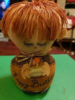 Happy Birthday Western (Vtg Dolly Gram Western Union HAPPY BIRTHDAY Felt Stuffed Doll Red)