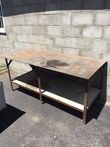 Heavy duty work/welders bench