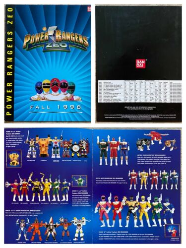 Bandai Fall 1996 Toy Fair Dealer Catalog Power Rangers Zeo Pyramidas Megazord