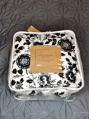 NEW Cupcakes & Cashmere Black/White Embroidered Full Queen Duvet Cover ()