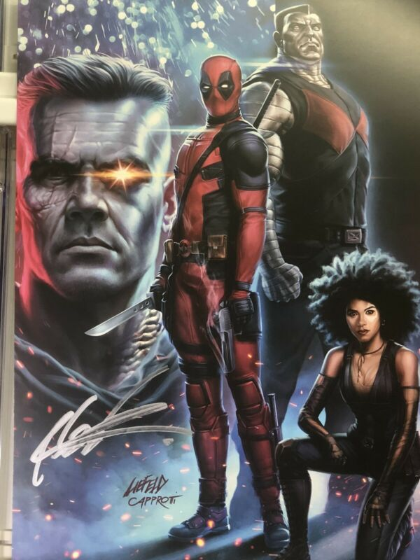 DEADPOOL 2 LIMITED EDITION POSTER SIGNED BY ROB LIEFELD