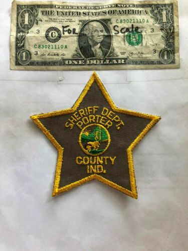 Porter County Indiana Police Patch Sheriff Dept. Un-sewn great shape
