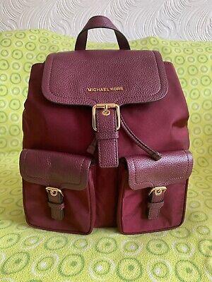 Beautiful Genuine MICHAEL KORS *Susie* Plum Pebbled Leather Backpack Bag