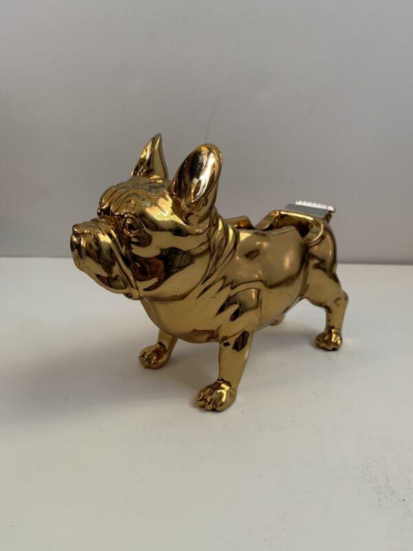 Threshold French Bulldog Tape Dispenser - Shiny Gold Tone