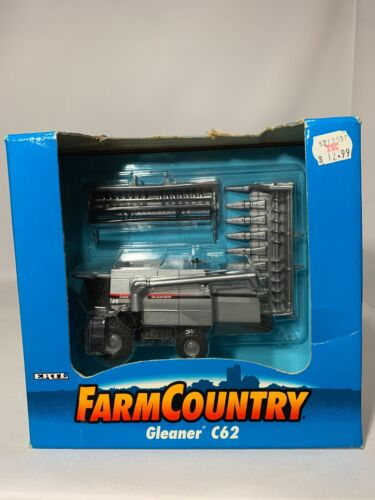 Vintage 1998! ERTL FARM COUNTRY Gleaner C62 DIECAST 13000 -1HA -New In Box!
