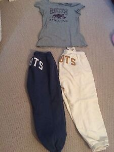 2 pairs of roots calf length track pants