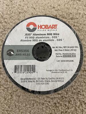 Hobart Er5356 Aluminum Welding Wire 1-lb Spool-.035 Wire H383808-r18