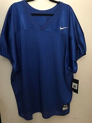 Nike Defender Football Practice Jersey Mens 2XL XXL Blue Mesh Brand New -