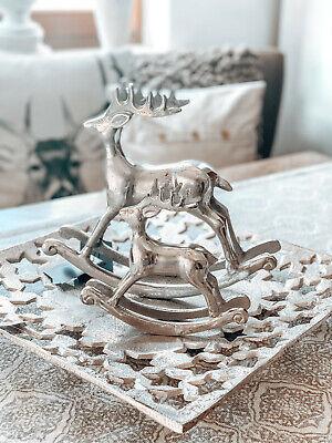 ♥ COLMORE ♥ Schaukel Hirsch ♥ Silber ♥ Weihnachten ♥ Aluminium online kaufen
