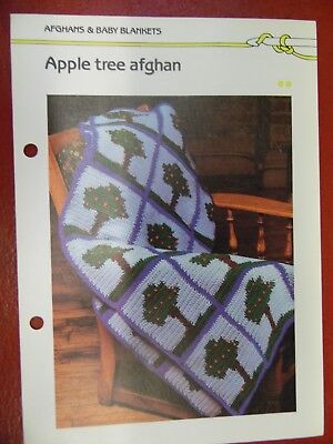 (Apple Tree Afghan crochet PATTERN INSTRUCTIONS FREE SHIPPING)