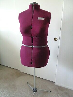 My Double Adjustable Dress Form With Tripod Stand Large - Burgundy